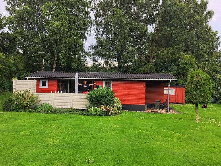 little red summer house in Denmark